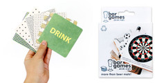 Bar Games Drink Coasters, Set of 30
