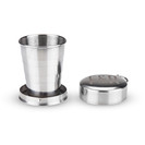 Collapsible Stainless Steel Shot Glass Keychain