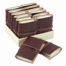 Embossed Leather Mini Journal - Brown