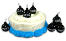 Kaboom Cake Candles , Set of 6