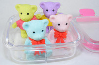 Bear Erasers in Box