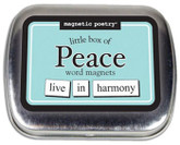 Little Box of Peace Word Magnets