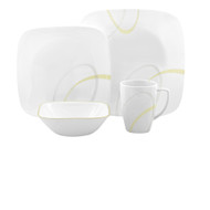 Corelle Modern Lines 16pc Square Dinner Set