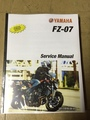 2015-2016 Yamaha FZ-07 Part# LIT-11616-28-07 service shop repair manual
