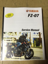 2015-2016 Yamaha FZ-07 Part# LIT-11616-28-07 service shop repair manual