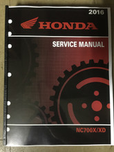 2016 Honda NC700XD-G / NC750XA / NC750XD-G Part# 61MKA01 service shop repair manual
