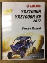 2017 Yamaha YXZ1000R SE, side X side, Part# LIT-11616-30-12 service shop repair manual