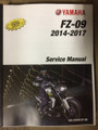 2014-2017 Yamaha FZ-09 Part# LIT-11616-27-39 service shop repair manual