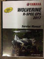 2017 Yamaha Wolverine R-Spec EPS, Wolverine R-Spec EPS Hunter, Wolverine R-Spec EPS SE, side X side Part# LIT11616-30-06 service shop repair manual