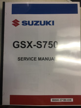 2018 Suzuki GSX-S750 Part# 99500-37180-03E service shop repair manual