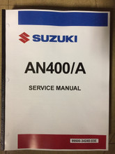 2017-2018 Suzuki Burgman 400 / AN400A Part# 99500-34240-03E service shop repair manual