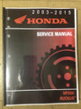 2003-2017 Honda NPS50 Ruckus Part# 61GEZ13 service shop repair manual