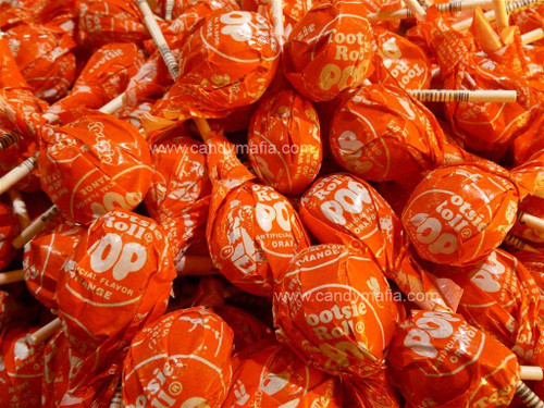 Orange Tootsie pops