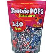 Tootsie Pops Miniatures 140 mini Tootsie Roll Pops