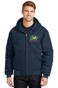 GSPCA NAVY ADULT DUCK CLOTH EMBROIDERED HOODED JACKET