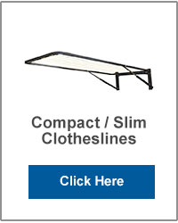 Compact & Slim Wall Mounted Clotheslines