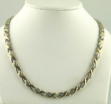 "Magnetic necklace Oval X SG stainless with 33-5200 gauss magnets in a 20"" length - 171,600 rating"