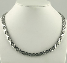 "Magnetic necklace Oval X S stainless with 33-5000 gauss magnets in a 20"" length - 171,600 rating"