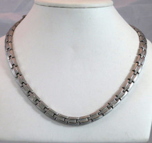 "Magnetic necklace Scottsdale S stainless with 56-5200 gauss magnets in a 22"" length - 291,200 rating"