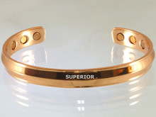 This copper magnet bracelet is very popular amongst men. It is our thickest magnetic copper bracelet making it the most durable for a working man