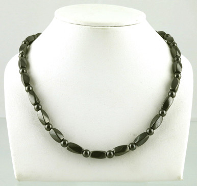 Magnetic necklace made with triple strength magnetic hematite