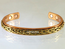 Copper Bracelet for pain relief that has 3 braided brass wires to make an exceptionally attractive bracelet.