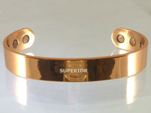 Mens Copper Bracelet is made of a wide smooth piece of copper making it a simple and straight forward design.