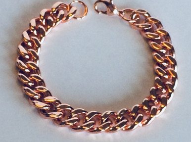 This solid copper curb chain bracelet is the first choice for those that do not like a bangle.