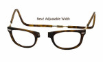 Clic Designer Eyeglasses Ashbury Style in Tortoise 'Wide Fit' :: Progressive
