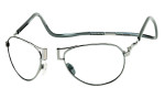 Clic Designer Eyeglasses Aviator Style in Gun-Metal 'XXL Fit' :: Progressive