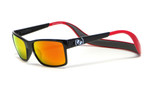 Hoven Eyewear MONIX in Black / Red with Gloss Grey & Fire Chrome Polarized