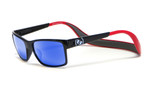 Hoven Eyewear MONIX in Black / Red with Gloss Grey & Sky Blue Polarized