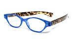 Calabria R544S Designer Eyeglasses in Blue-Tortoise :: Custom Left & Right Lens
