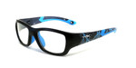 Wiley-X Youth Force Series 'Flash' in Black & Blue Lightning Safety Eyeglasses :: Rx Single Vision