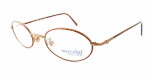 Marcolin Designer Eyeglasses 6454 in Bronze 46 mm :: Custom Left & Right Lens