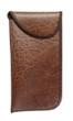Speert Vinyl Aged Leather Eyeglass Soft Case in Brown