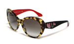 Prada 26QS-7S00A7 Designer Sunglasses in Tortoise & Black/Red with Brown Gradient Tint
