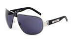 Sports Charriol Swiss Stainless Steel Designer Sunglasses in Black & Silver Frame & Grey Lens (24001-C3)