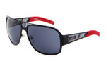 Sports Charriol Swiss Stainless Steel Designer Sunglasses in Black & Red Frame & Grey Lens (24005-C4)