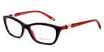 Tiffany Womens Designer Eyeglasses 2074 in Black & Red (8156) :: Custom Left & Right Lens