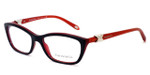 Tiffany Womens Designer Eyeglasses 2074 in Black & Red (8156) :: Rx Single Vision