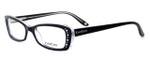bebe Womens Designer Eyeglasses 5033 in Black Crystal :: Rx Single Vision