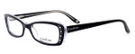 bebe Womens Designer Eyeglasses 5033 in Black Crystal :: Rx Bi-Focal