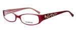 bebe Womens Designer Eyeglasses 5040 in Rose :: Rx Bi-Focal
