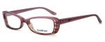 bebe Womens Designer Eyeglasses 5033 in Rose