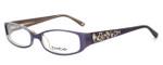bebe Womens Designer Eyeglasses 5040 in Amethyst