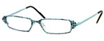 Harry Lary's French Optical Eyewear Ferrary in Teal Black (717)