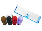 Clear Hard Eyeglass Case in Assorted Colors C351