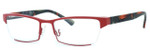 Harry Lary's French Optical Eyewear Utopy in Red Black (Orange (361)