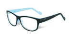 Wiley-X Marker Optical Eyeglass Collection in Gloss-Black-Sky-Blue (WSMAR05) :: Custom Left & Right Lens